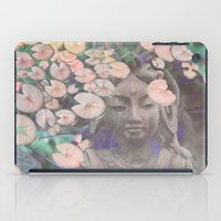 budi satria kwan iPad Cases featuring Reflections - Zen Garden Kwan Yin Goddess Art by Fusion Idol