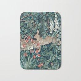 William Morris Forest Rabbits and Foxglove Bath Mat