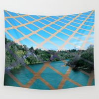 river Wall Tapestries featuring River by Last Call