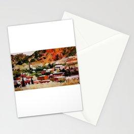 Bisbee, Arizona Landscape Painting Stationery Cards