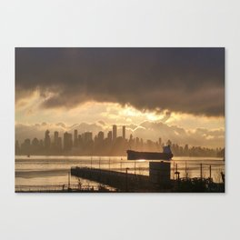 Stormy Harbour Canvas Print