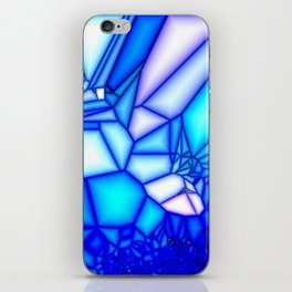Glowing blue iPhone Skin