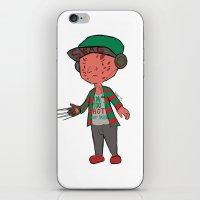 freddy krueger iPhone & iPod Skins featuring Horror Hipsters - Freddy Krueger by Duddy In Motion