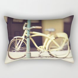 Yellow New Orleans Bicycle Rectangular Pillow
