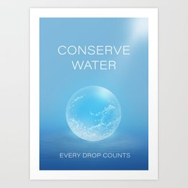 Water Conservation Poster Art Print