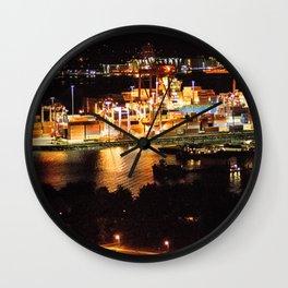 Las luces de Vancouver Wall Clock