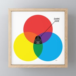"""Dark Side"" by ilovedoodle Framed Mini Art Print"