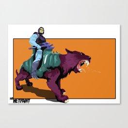 Skeletor x MrWetpaint Canvas Print