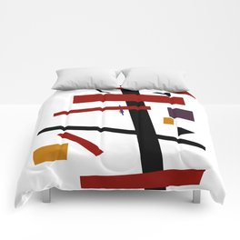 Geometric Abstract Malevic #15 Comforters