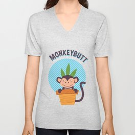 Monkey Butt  Unisex V-Neck