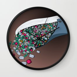 Food poison Wall Clock