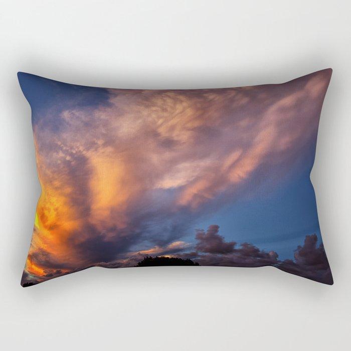 Winged Sunset Rectangular Pillow