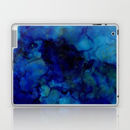 NEW Alcohol Ink Deep Blue Trip I Laptop & iPad Skin