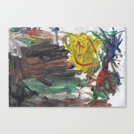 My 4 yo daughters acryl painting Canvas Print