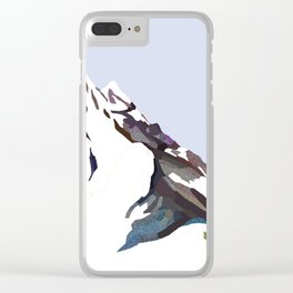 Mountains In The Cold Design Clear iPhone Case