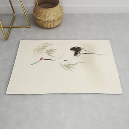 Oriental Red-Crowned Crane 001 Rug