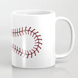Baseball Lace Background Coffee Mug