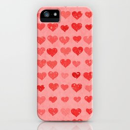 Pink Valentines Love Hearts iPhone Case