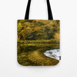 Autumn on the River Lathkill Tote Bag