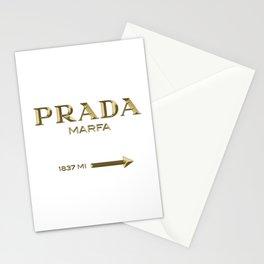 Golden PradaMarfa sign Stationery Cards