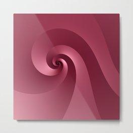 Rose-colored Wave Metal Print