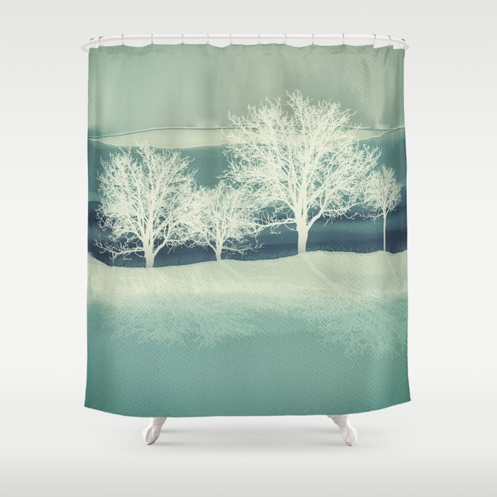 Frost Shower Curtain By Spacefrogdesigns