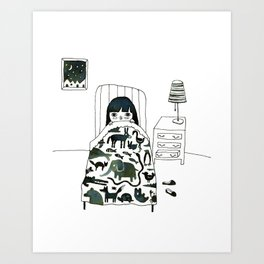 Animal Fear Art Print