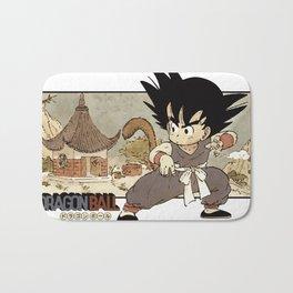 Son Goku On Mt. Paozu Bath Mat
