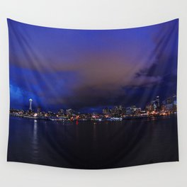 Seattle nightscape Wall Tapestry