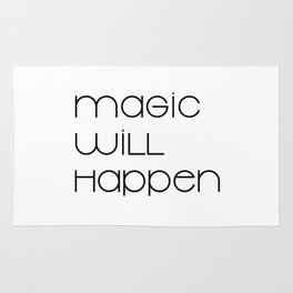 Magic Will Happen (black) Rug