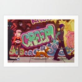 Creep! Graffiti Art Print