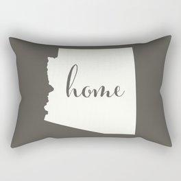 Arizona is Home - White on Charcoal Rectangular Pillow