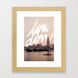 Brace yourselves, lots of London artwork are coming... Framed Art Print