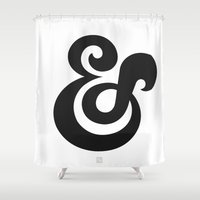ampersand Shower Curtains featuring Ampersand by Tavia Lawrence