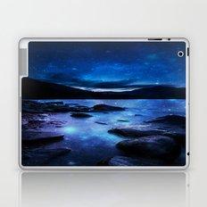 Magical Mountain Lake Dark Blue Laptop & iPad Skin