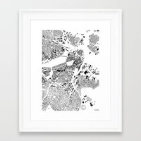 boston map Framed Art Prints featuring Boston map by Maps Factory