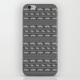 Ugly christmas sweater | Border collie grey iPhone Skin