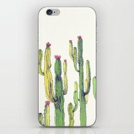 vertical cactus iPhone Skin