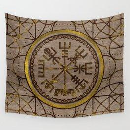 Vegvisir. The Magic Navigation Viking Compass Wall Tapestry