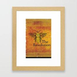 Bee the Revolution Framed Art Print