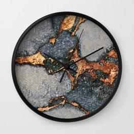 GREY & GOLD GEMSTONE Wall Clock