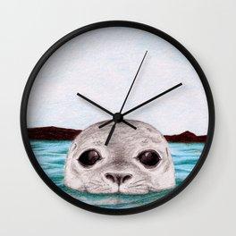 Peepin' Selkie Wall Clock
