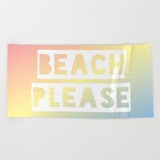 Beach Please - Rainbow Ombre Beach Towel