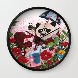 the bath Panda Wall Clock