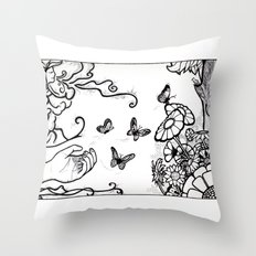 Releasing Butterflies Throw Pillow