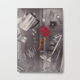 Topsy-Turvy Turmoil Metal Print