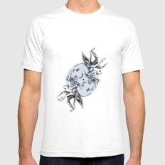 Cosmic Dancer White SMALL Mens Fitted Tee