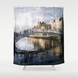 Ha'PPeny Bridge Shower Curtain