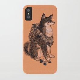Shibe doge with mushrooms iPhone Case