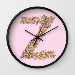 Leafy Letter Z Wall Clock